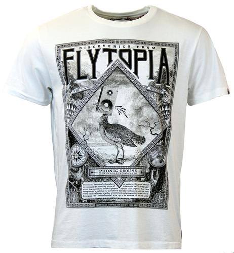 FLY53 PHONICA RETRO 70S GROUSE INFO GRAPHIC TEE