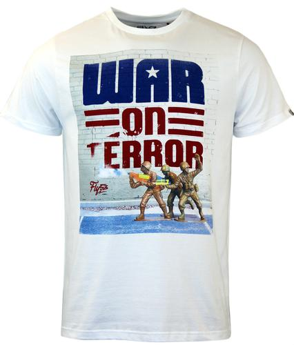 FLY53 RETRO MOD WAR ON TERROR PRINT T-SHIRT