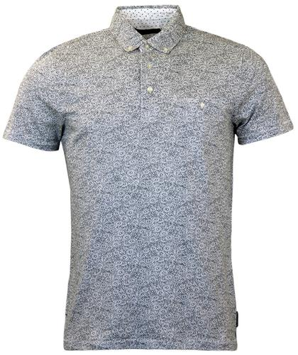 FRENCH CONNECTION RETRO 70S DAISY PRINT POLO