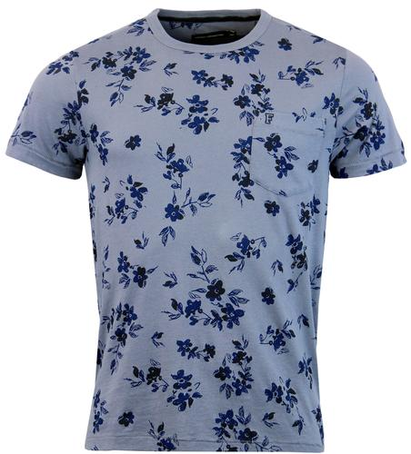 FRENCH CONNECTION RETRO INDIE FLORAL PRINT T-SHIRT