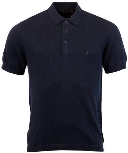 FRENCH CONNECTION RETRO MOD COTTON KNIT POLO