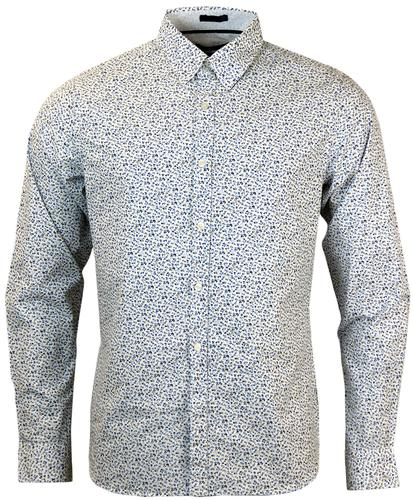 FRENCH CONNECTION RETRO MOD MINI FLORAL SHIRT
