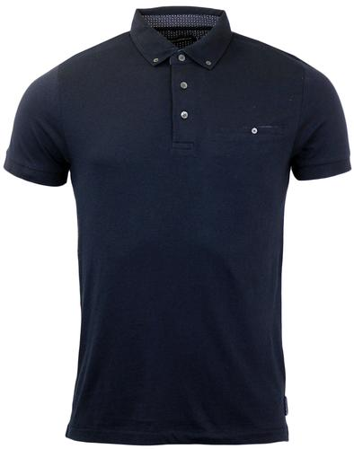 FRENCH CONNECTION RETRO MOD POLO MARINE BLUE
