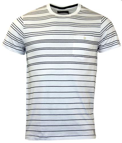 FRENCH CONNECTION RETRO INDIE GRADED STRIPE TEE