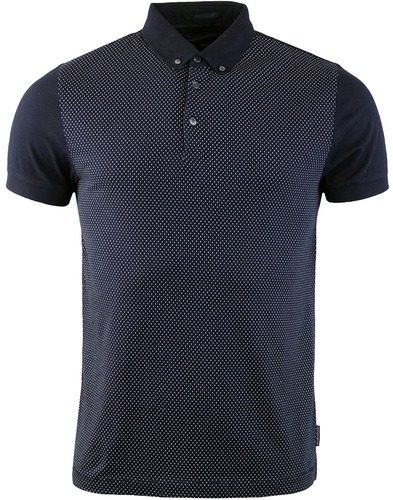 french connection micro print shirt marine