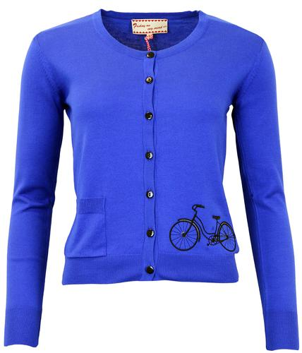 FRIDAY ON MY MIND CYCLONE RETRO BICYCLE CARDIGAN