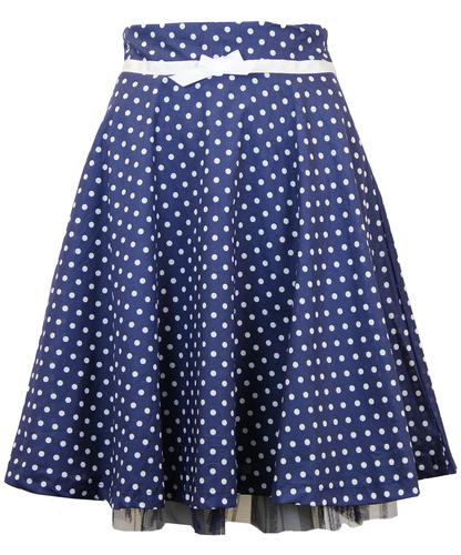 FRIDAY ON MY MIND DEANNA RETRO 50S POLKA DOT SKIRT