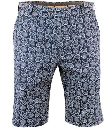 GABICCI VINTAGE SIXTIES PSYCHEDELIC PAISLEY SHORTS