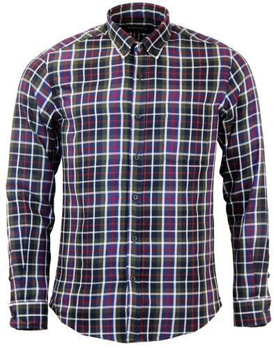 GLOVERALL RETRO GRID CHECK BUTTON DOWN SHIRT