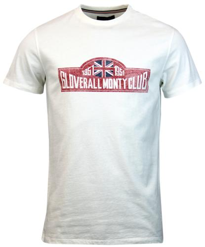 GLOVERALL RETRO MOD MONTY CLUB JERSEY T-SHIRT