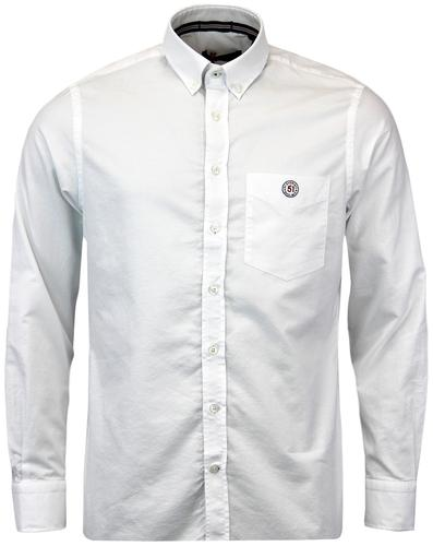 GLOVERALL RETRO 60S MOD BUTTON DOWN OXFORD SHIRT
