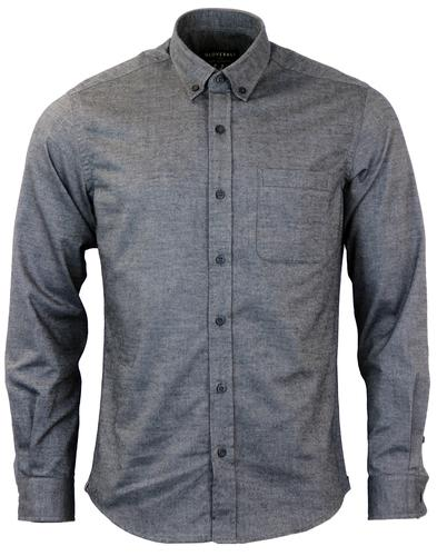 GLOVERALL Retro Brushed Cotton Twill Oxford Shirt