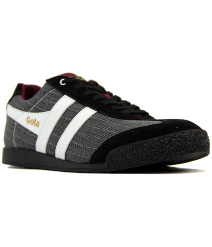GOLA HARRIER RETRO INDIE PINSTRIPE TRAINERS