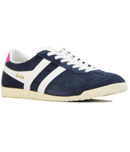 GOLA Bullet Womens Retro Suede Trainers NAVY