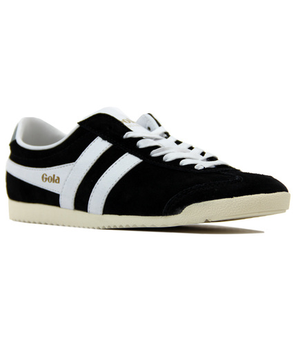 GOLA Bullet Womens Retro 70s Suede Trainers BLACK