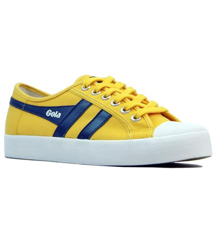 GOLA COASTER WOMENS RETRO 70S CANVAS TRAINERS SUN