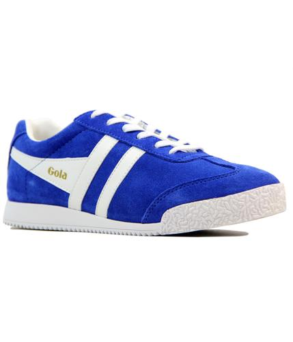 GOLA Harrier Womens Retro 70s Suede Trainers BLUE