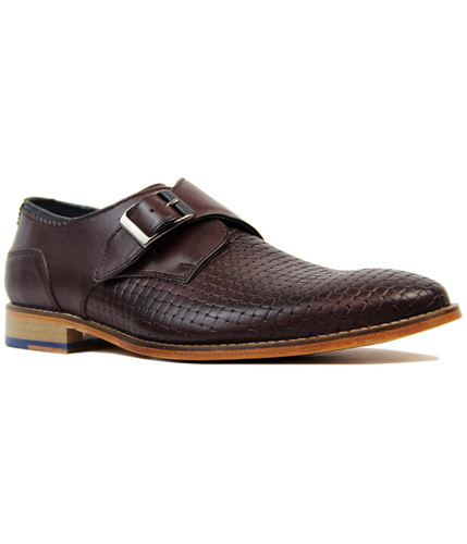 GOODWINSMITH HELMSHORE RETRO MOD MONK STRAP SHOES