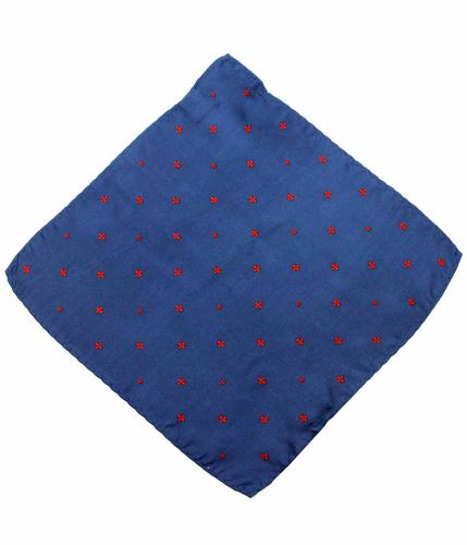 GRAHAME PETER WERTH NAVY POCKET SQUARE