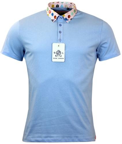 GUIDE LONDON RETRO 60S BOTTLE TOP COLLAR POLO