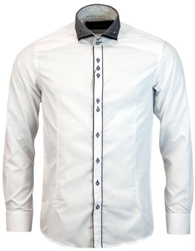 GUIDE LONDON RETRO PATTERNED DOUBLE COLLAR SHIRT