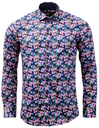 GUIDE LONDON RETRO SIXTIES MENS FLORAL SHIRT