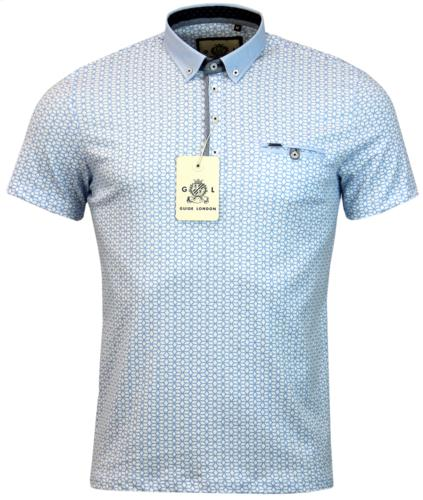 GUIDE LONDON RETRO GEO MOSAIC PRINT POLO