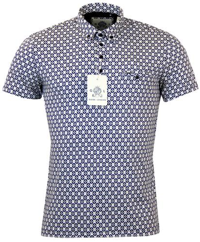 GUIDE LONDON RETRO SIXTIES MOSAIC PRINT POLO