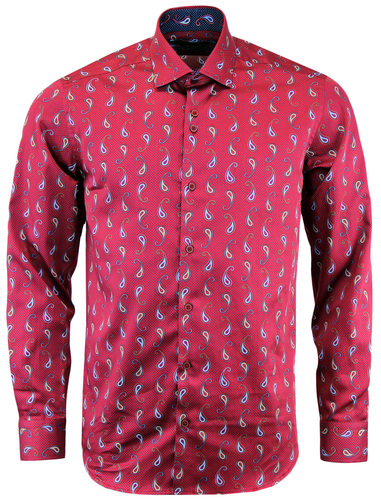 GUIDE LONDON 60S MOD PAISLEY MICRO SQUARE SHIRT