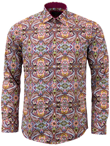 GUIDE LONDON SIXTIES MOD PSYCHEDELIC PAISLEY SHIRT