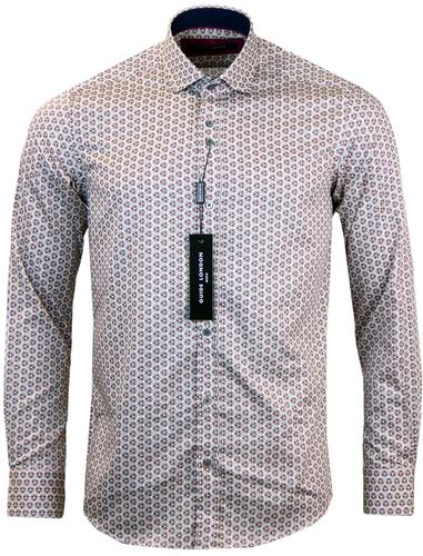 GUIDE LONDON RETRO MOD PSYCHEDELIC CIRCLE SHIRT