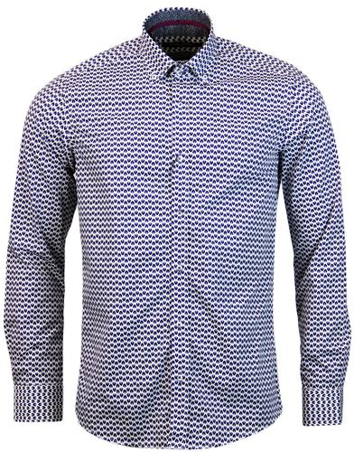 GUIDE LONDON 60S OP ART TEAR DROP PRINT SHIRT