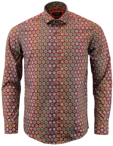 GUIDE LONDON RETRO 1960S MOD PSYCHEDELIC SHIRT