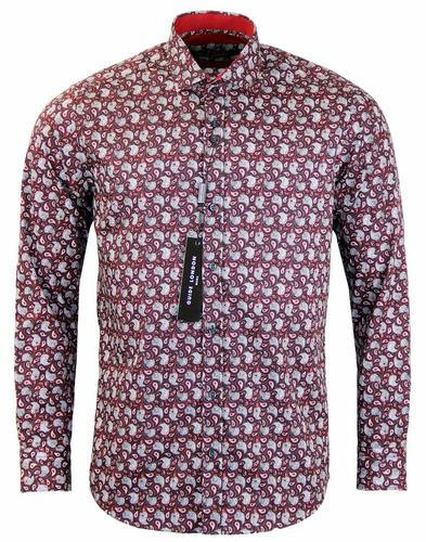 GUIDE LONDON RETRO PAISLEY SHIRT RED