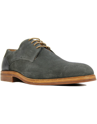 H by Hudson enrico suede shoes Charcoal