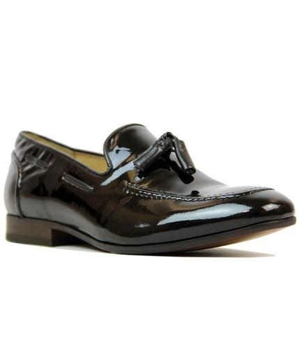 H BY HUDSON PIERRE RETRO PATENT LEATHER LOAFERS