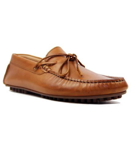 HUDSON FELIPE CALF TAN SHOES RETRO INDIE SHOES