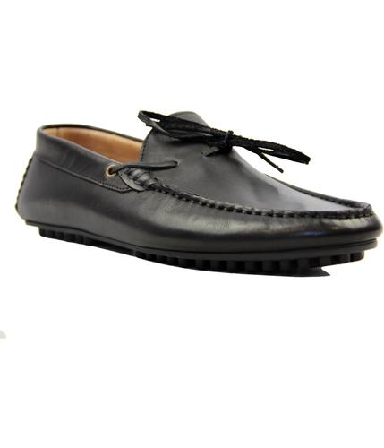 HUDSON FELIPE CALF BLACK SHOES RETRO INDIE SHOES