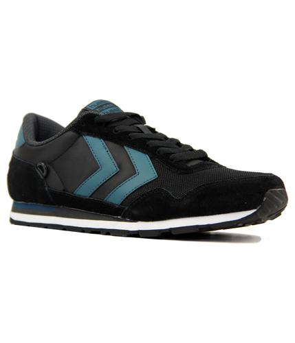 Reflex Lo Hummel Retro Indie Trainers In Black.