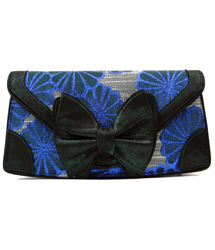 IRREGULAR CHOICE DAZZLE RAZZLE RETRO CLUTCH BAG