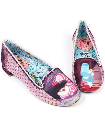 IRREGULAR CHOICE HERE'S A RIDDLE RETRO FLATS