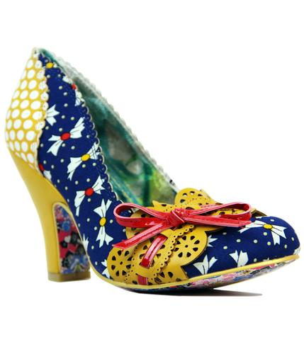 IRREGULAR CHOICE MAKE MY DAY RETRO POLKA BOW HEELS