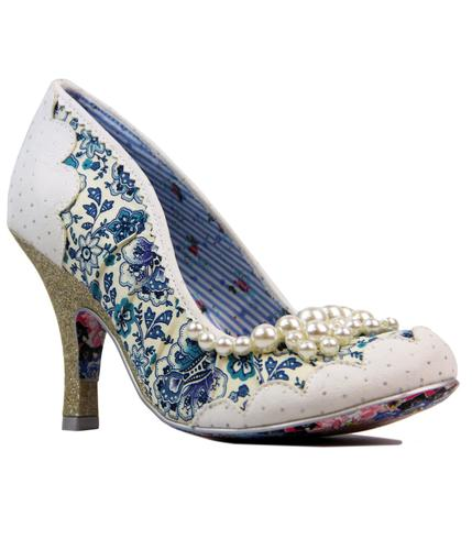 IRREGULAR CHOICE PEARLY GIRLY VINTAGE RETRO HEELS