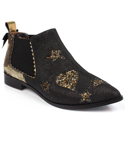 IRREGULAR CHOICE STARLIGHT IMPRESS ANKLE BOOTS