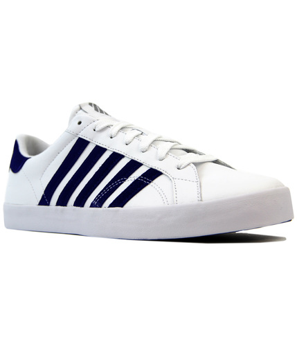 K-SWISS BELMONT SO RETRO LEATHER TENNIS TRAINERS