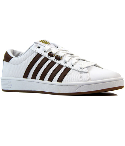 K-SWISS HOKE EQ CMF HONEY COMB LEATHER TRAINERS
