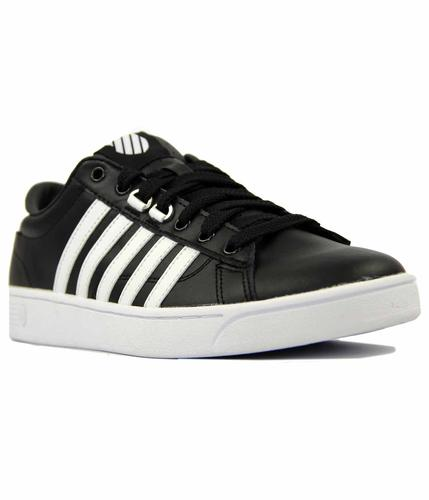 K-SWISS HOKE BLACK AND WHITE RETRO TRAINERS