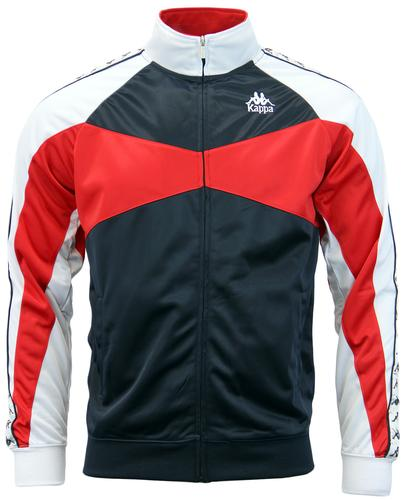 KAPPA TRAFFORD RETRO 70S CHEST STRIPE TRACK TOP