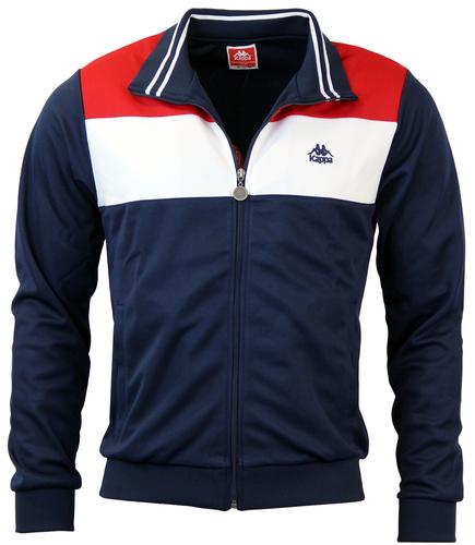 KAPPA CORINA BLOCK PANEL RETRO TRACK TOP NAVY