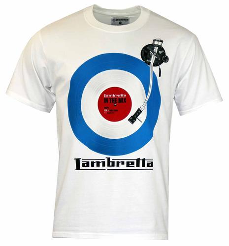 LAMBRETTA RETRO MOD 60S IN THE MIX TEE WHITE